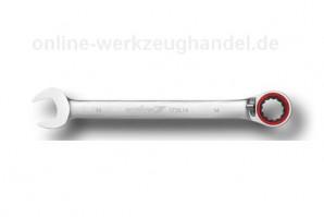 CAROLUS GEDORE Maul-Ringratschenschlüssel 14 mm, 15° abgewinkelt, umschaltbar 1710.14