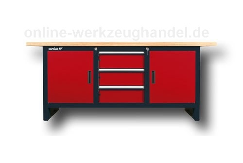 carolus gedore werkbank 2 m rot anthrazit carolus gedore werkstatteinrichtung. Black Bedroom Furniture Sets. Home Design Ideas