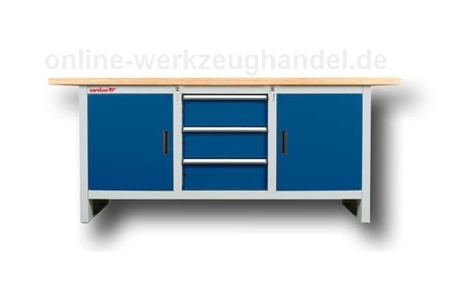 carolus gedore werkbank 2 m blau anthrazit carolus gedore werkstatteinrichtung. Black Bedroom Furniture Sets. Home Design Ideas